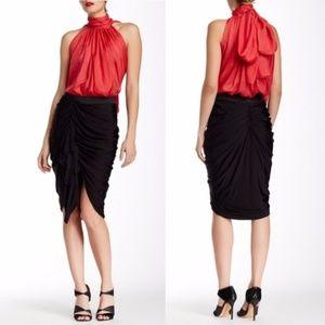 new LAMB ruched draped skirt gathered gwen stefani